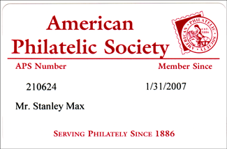stanley max's aps membership card